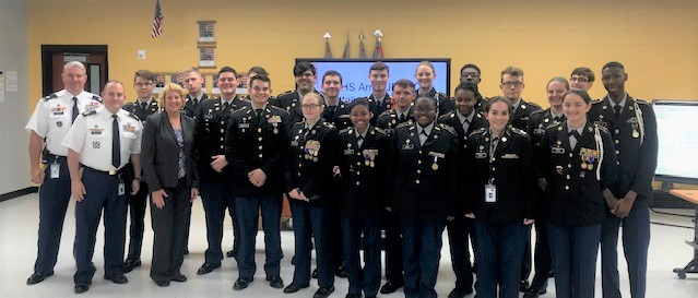 WCHS JROTC Earns Title of Honor Unit with Distinction