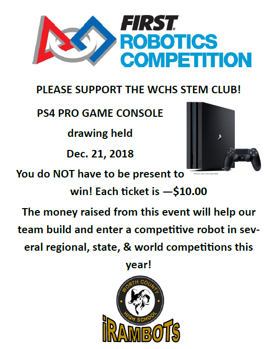 PS4 PRO Drawing Flyer