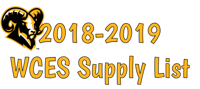 WCES 2018-2019 Supply List Logo