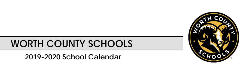 Worth County Schools 2019-2020 School Calendar Logo