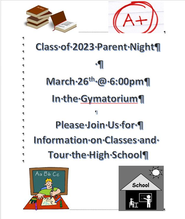 Class of 2023 Parent Night