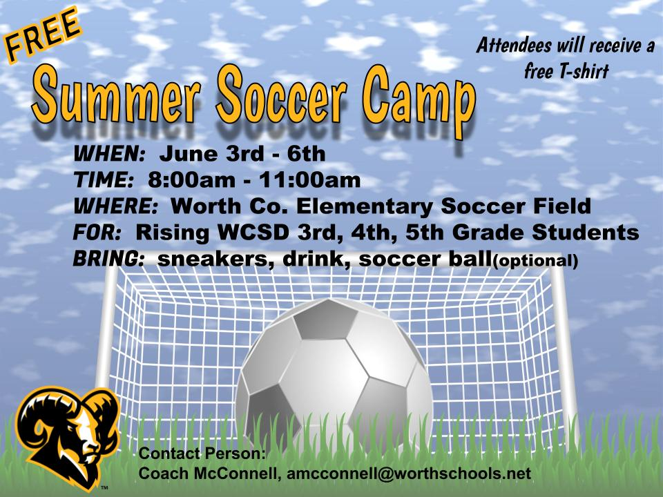 Summer Soccer Camp 2019 Flyer