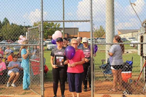 Rebekah Hughes is escorting Jane Long.  She is the widow of Don Long.  Mr. Long lost his battle to non-Hodgkin lymphoma this year.  