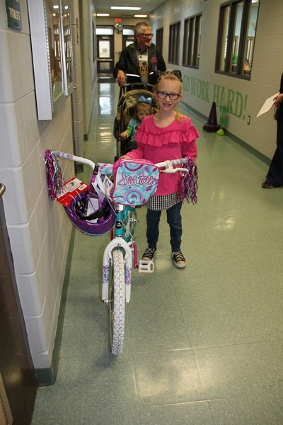 3rd nine weeks Bike Winner