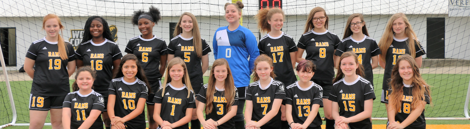 WCMS Girls Soccer Team FY20