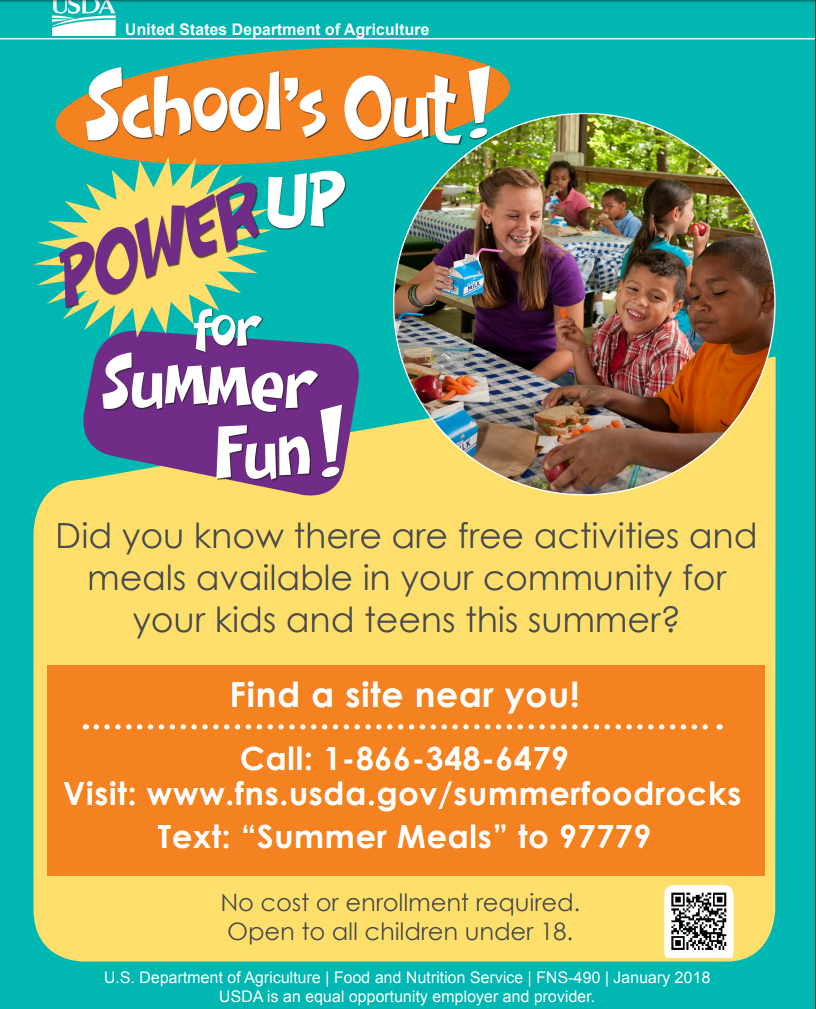 School's Out Power Up for Summer Fun! USDA Flyer