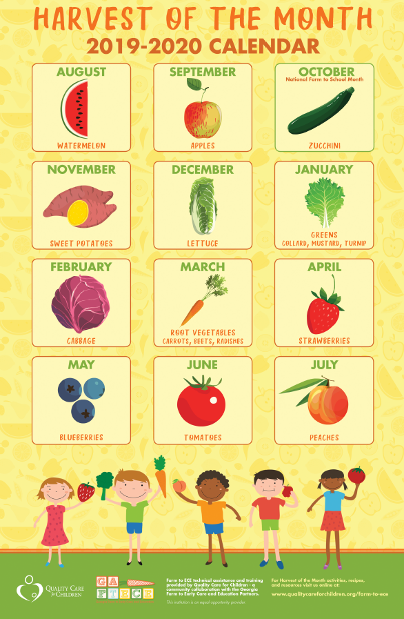 Harvest of the Month Calendar Image