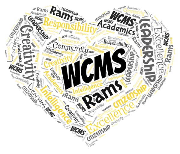 Word Art for Worth County Middle School