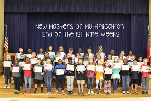 Photo of Masters of Multiplication for the First Nine Weeks