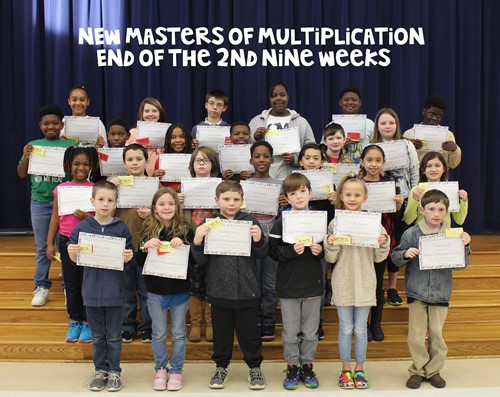 Photo of Masters of Multiplication for the Second Nine Weeks