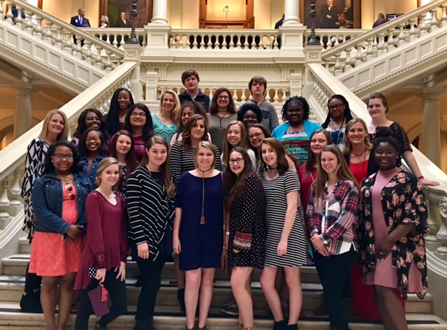 FCCLA and DECA Students at Atlanta Capitol