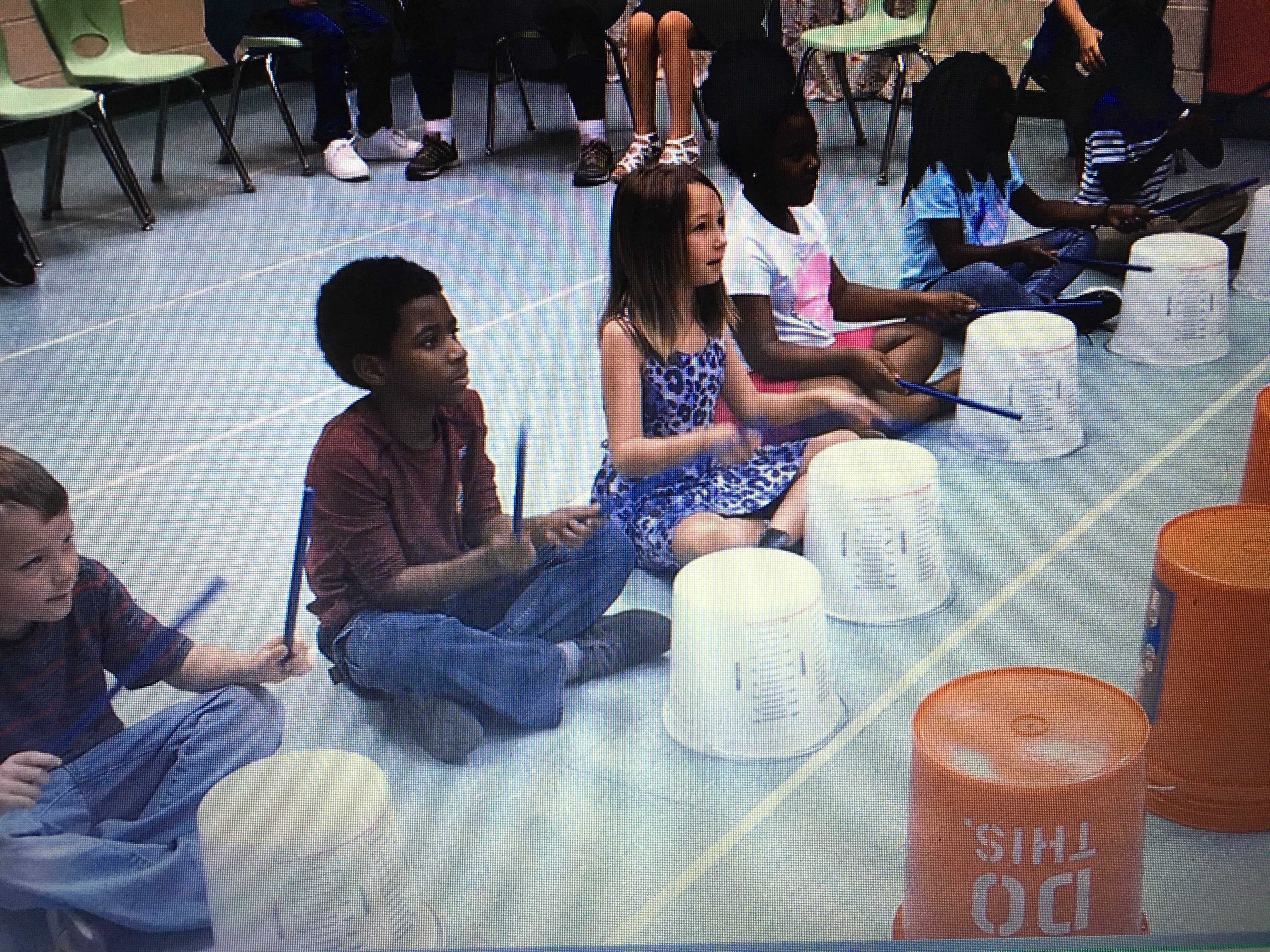 Bucket Drumming Fun!