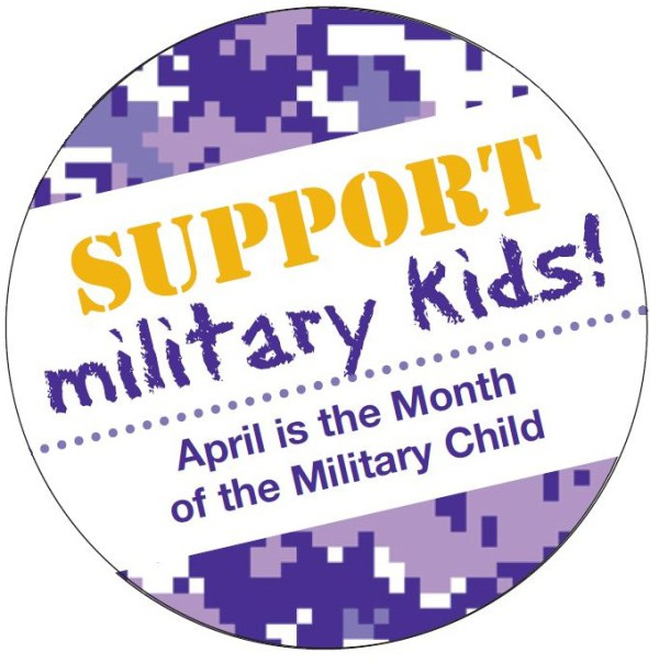Support Military Kids - April is the Month of the Military Child