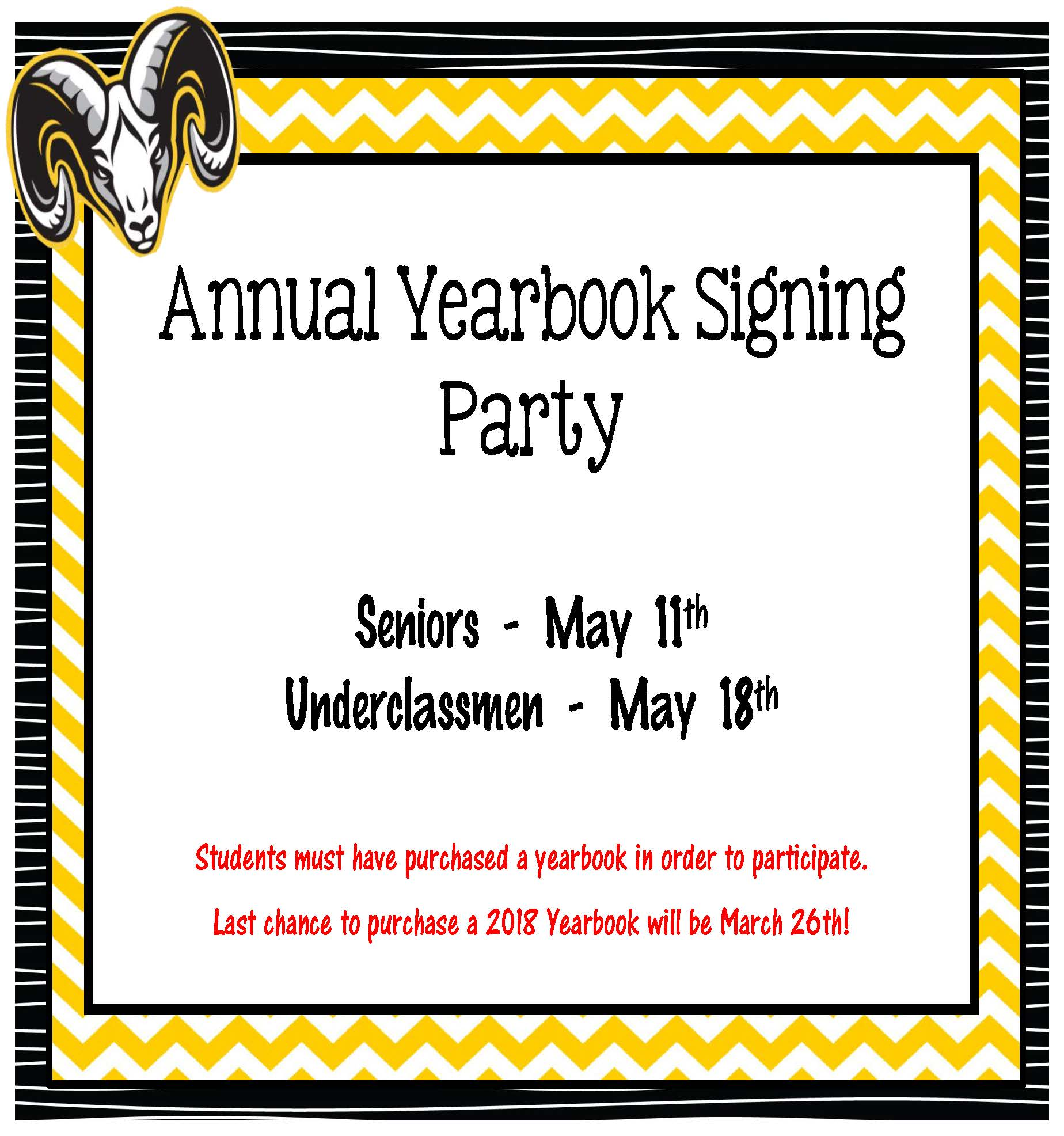 Annual Yearbook Signing Party