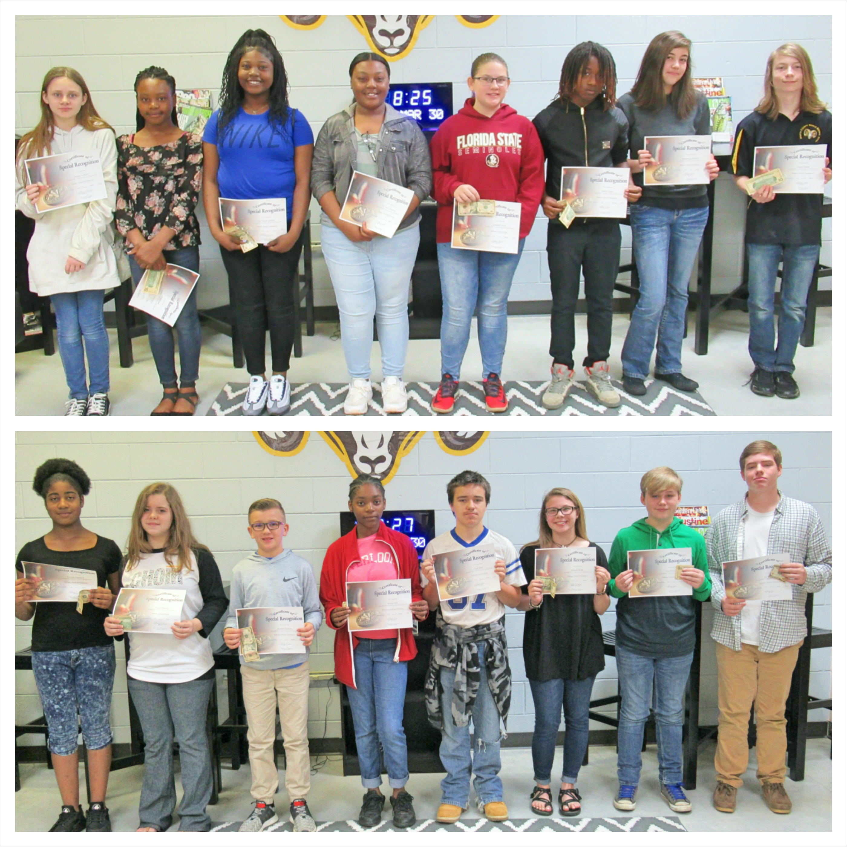 WCMS January and February Students of the Month