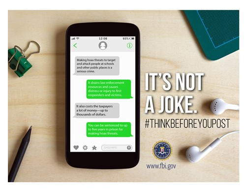 It's Not a Joke.  Think Before You Post.