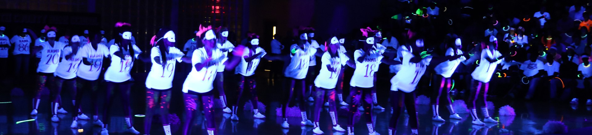 Black Light Pep Rally