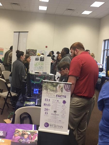 Students spoke with colleges and career representatives at the WCHS college and career fair.