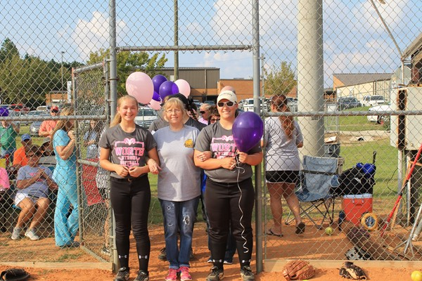 Kailey Parr and Gabby Kirkus are escorting their aunt Crystal Peak in memory of their grandmother Christine James.  She lost her battle to lung cancer this year.  