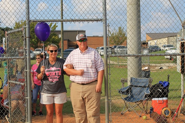 Coach Moore is escorting her Uncle Roger Pollock.  He is a survivor of leukemia.  