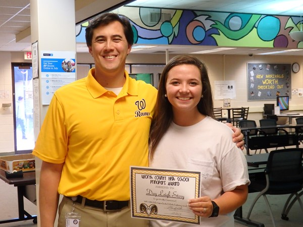 Day Leigh Story - Selected to serve on the State Superintendent Student Advisory Counsel.