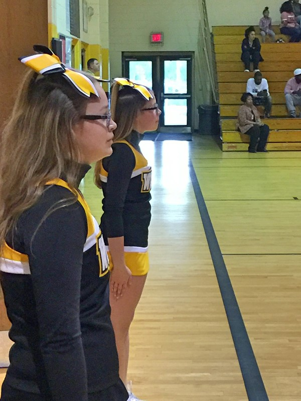 Cheerleaders - 1st Game -WCMS vs. Fitzgerald