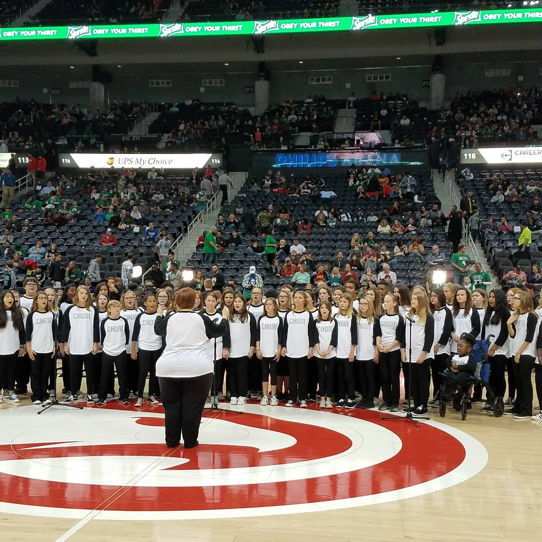 WCMS Choir Performs at Hawks Game