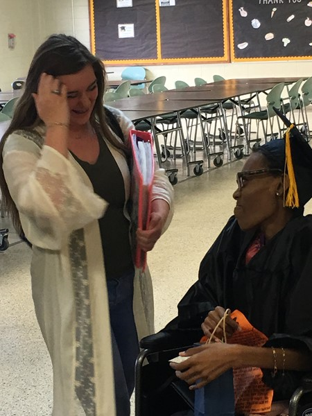 Ebony Clark, WCHS Senior Graduates in Special Ceremony
