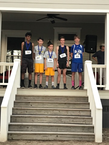 WCMS Boys place at XC meet