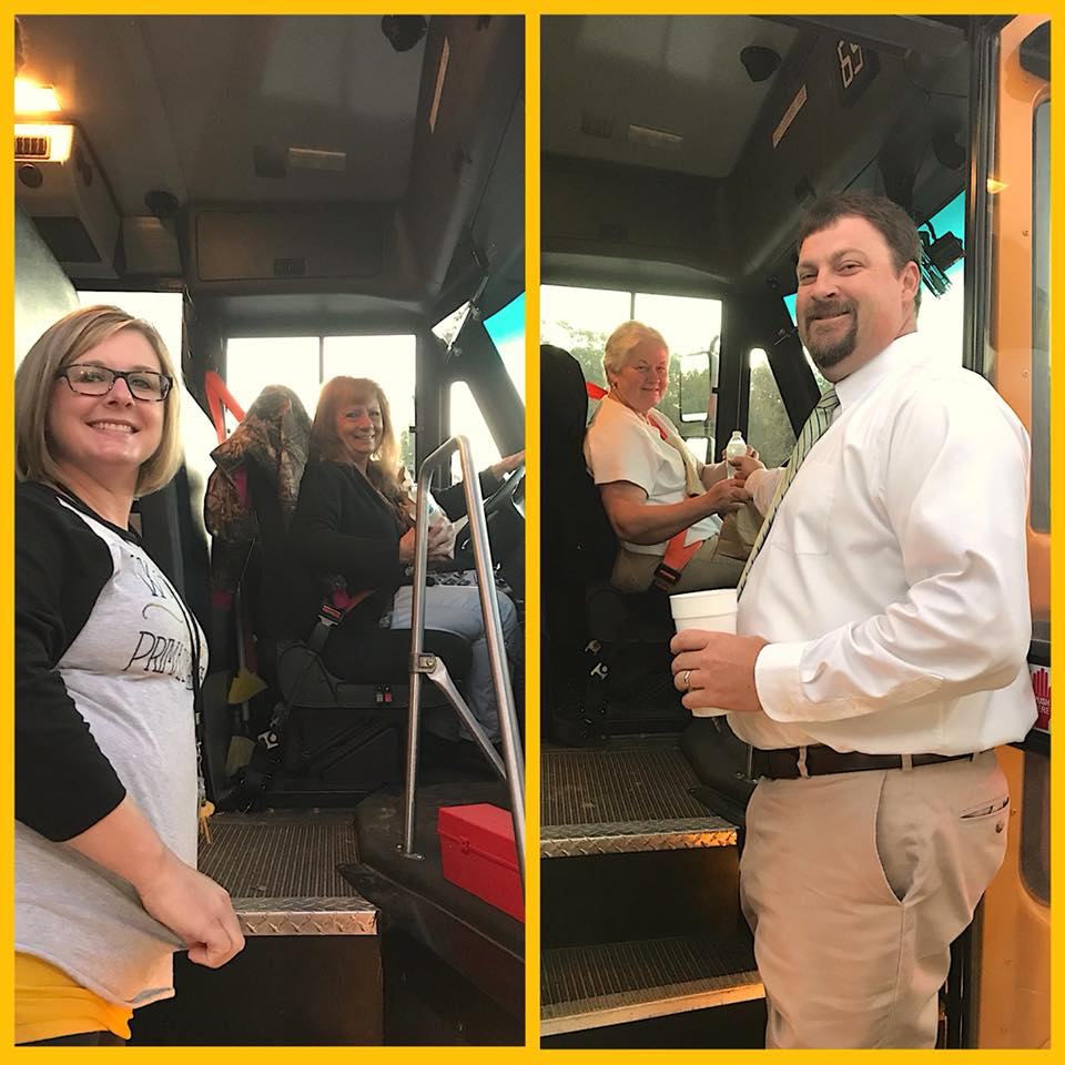WCPS Serves Bus Drivers Lunch