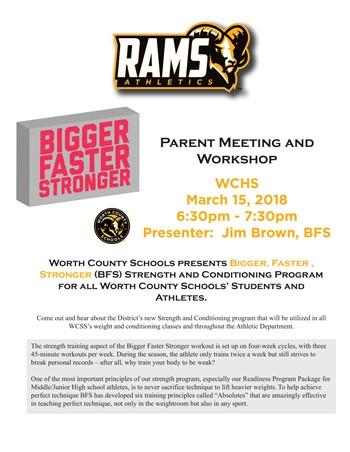 Bigger, Faster, Stronger Strength & Conditioning Program Parent